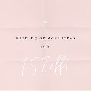 Bundle 3 or more items and save 15%